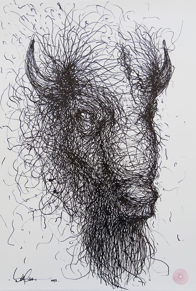 ink on paper  56 x 38 cm