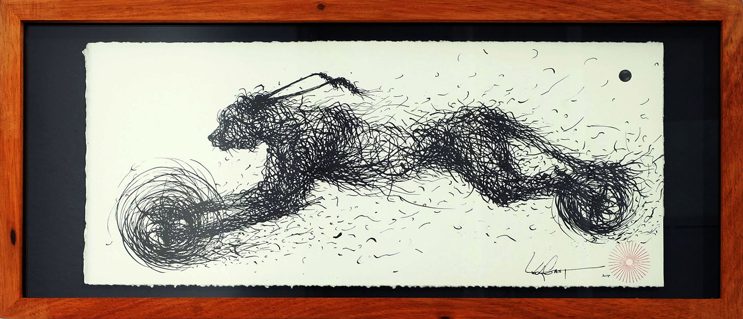 ink on paper  41 x 18 cm