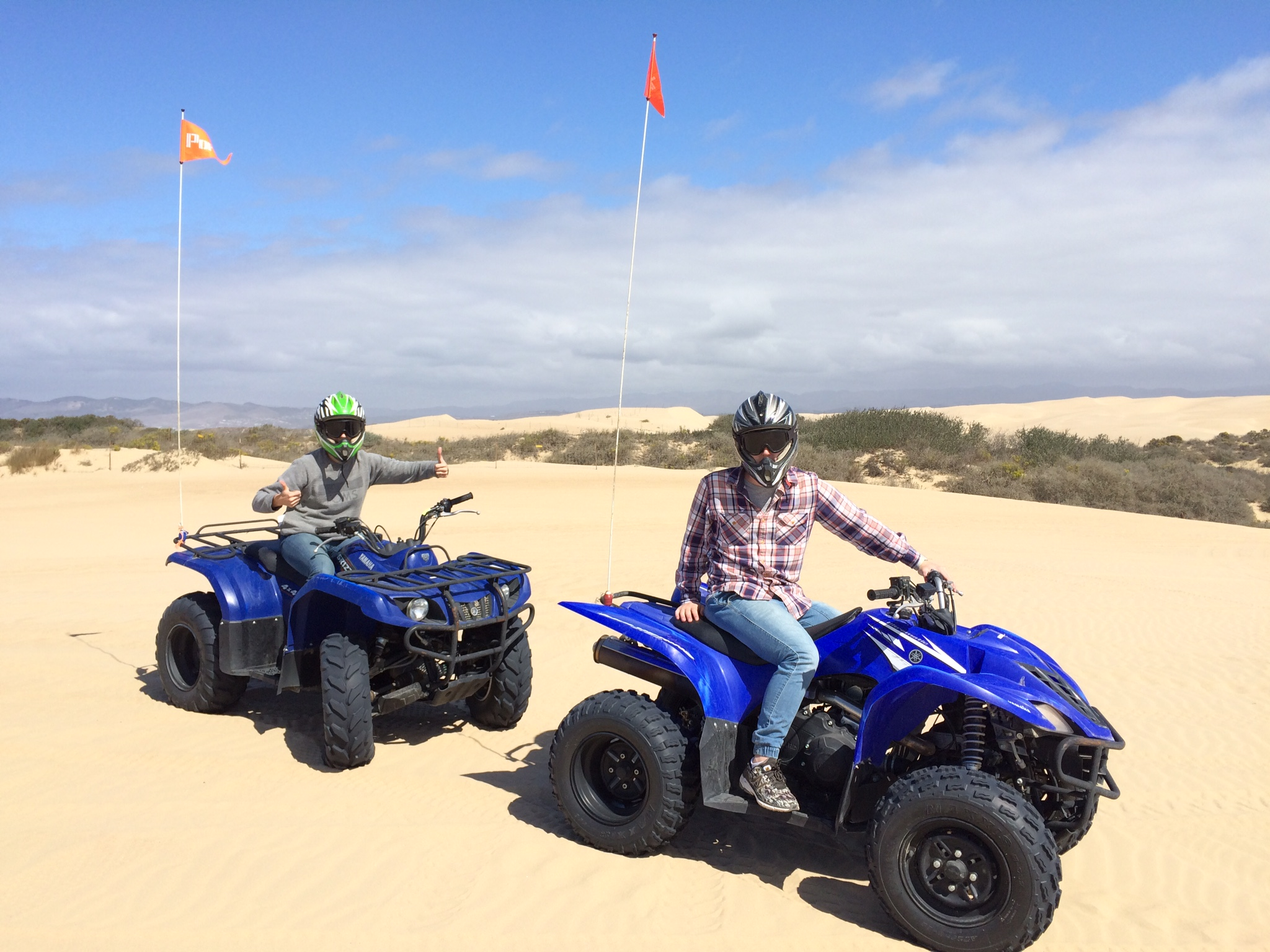 Micah & I on our ATVs