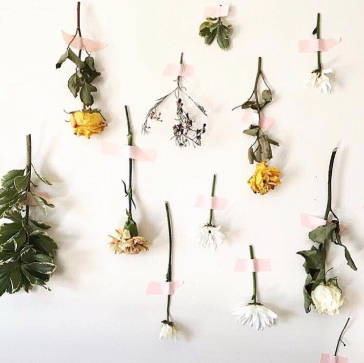 valentine's day flower wall