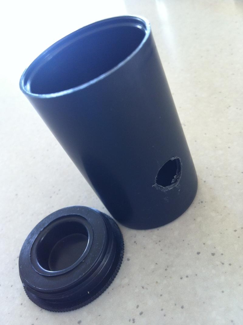 Black film pot camera