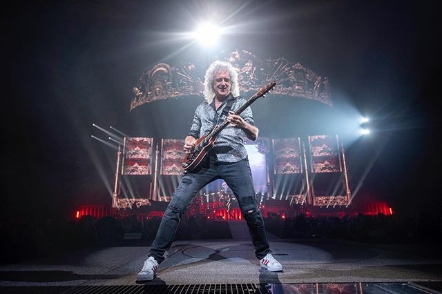 It's not often you see a legend, let alone photograph one.  @brianmayforreal of @officialqueenmusic doing what he was put on this earth to do.  Shot for @amazonmusic // 7.13.2019
