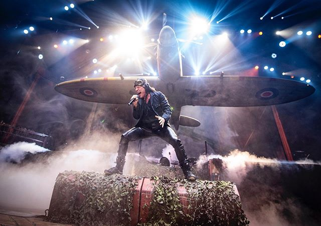 """""""Hey, so for this shoot there's going to be a spitfire that @ironmaiden will fly out on stage, might be cool"""" """"They... what?"""" """"Don't worry about it, good luck with the photos""""  Thanks @ironmaiden for one of the most memorable shoots of my career."""