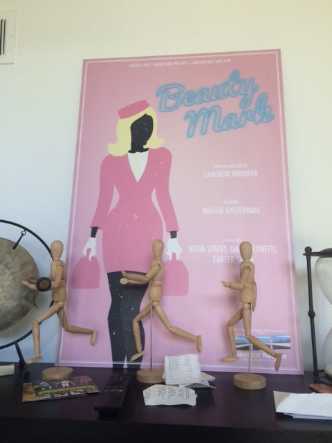 "The poster for Cameron's award-winning film ""Beauty Mark"""