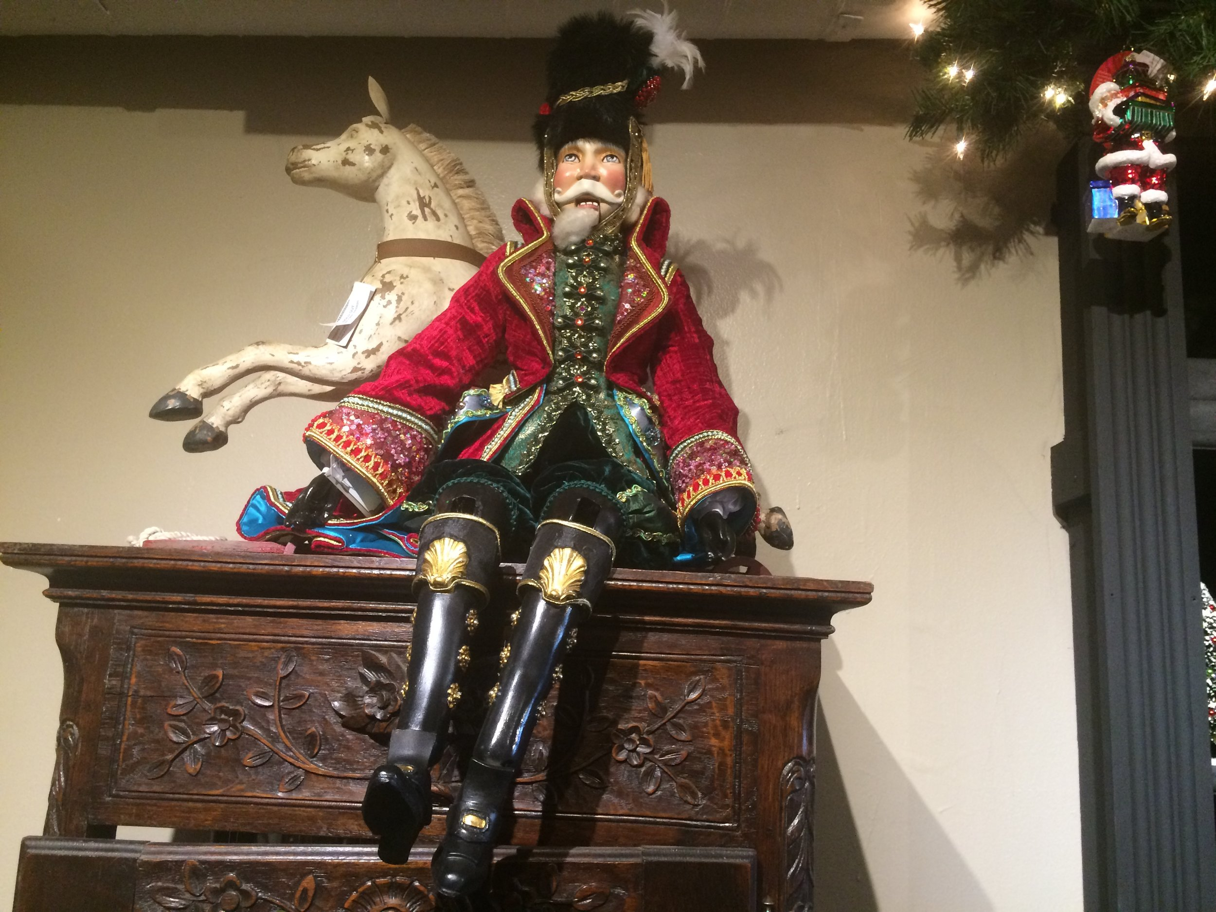The nutcracker that watched over the store.