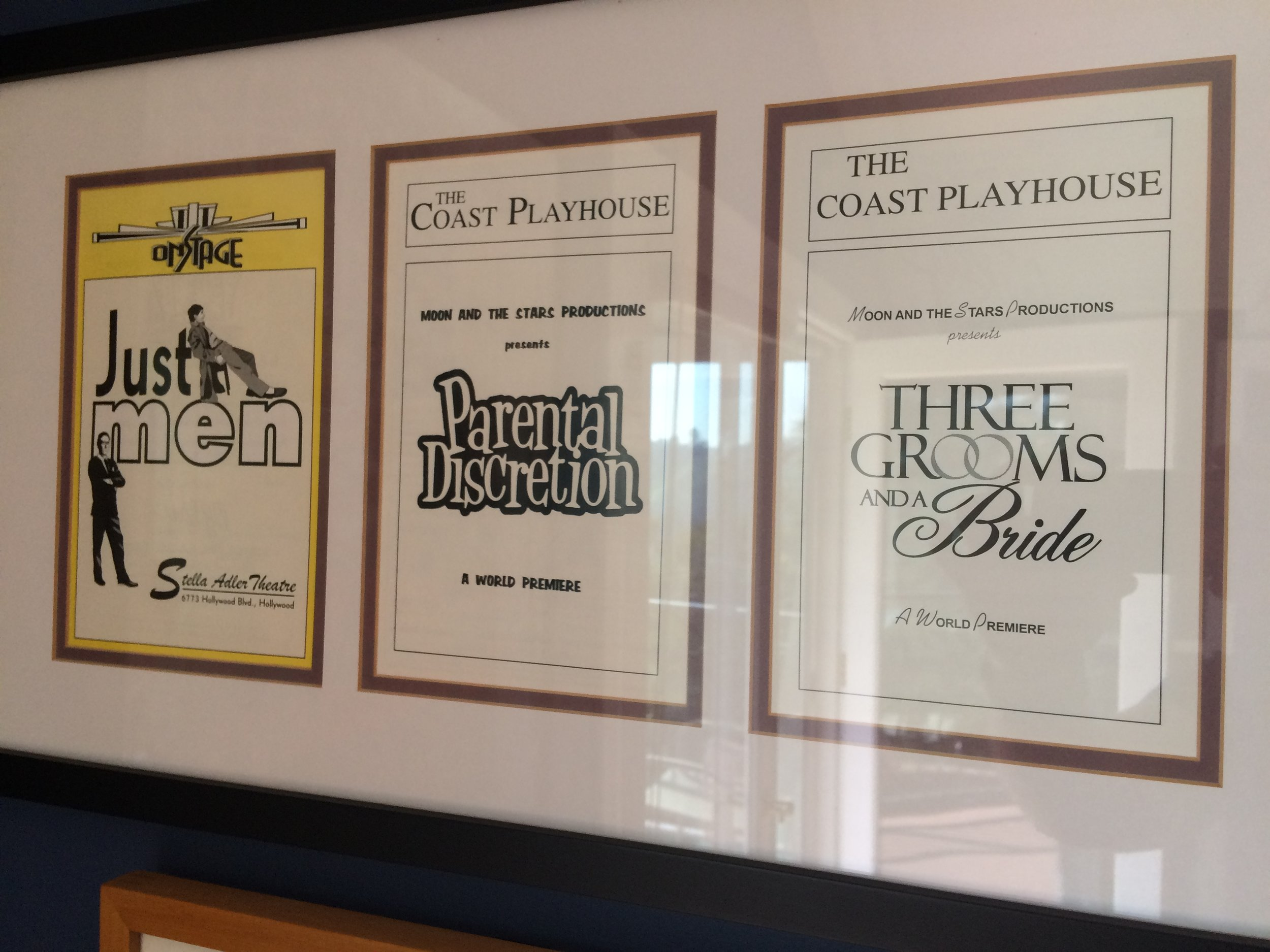 Playbills from three of Gary's previous plays.