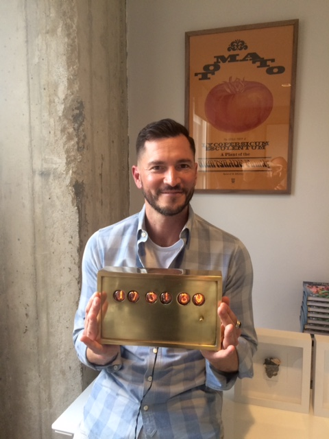Shawn w/ a cool brass clock that's available at Recon.