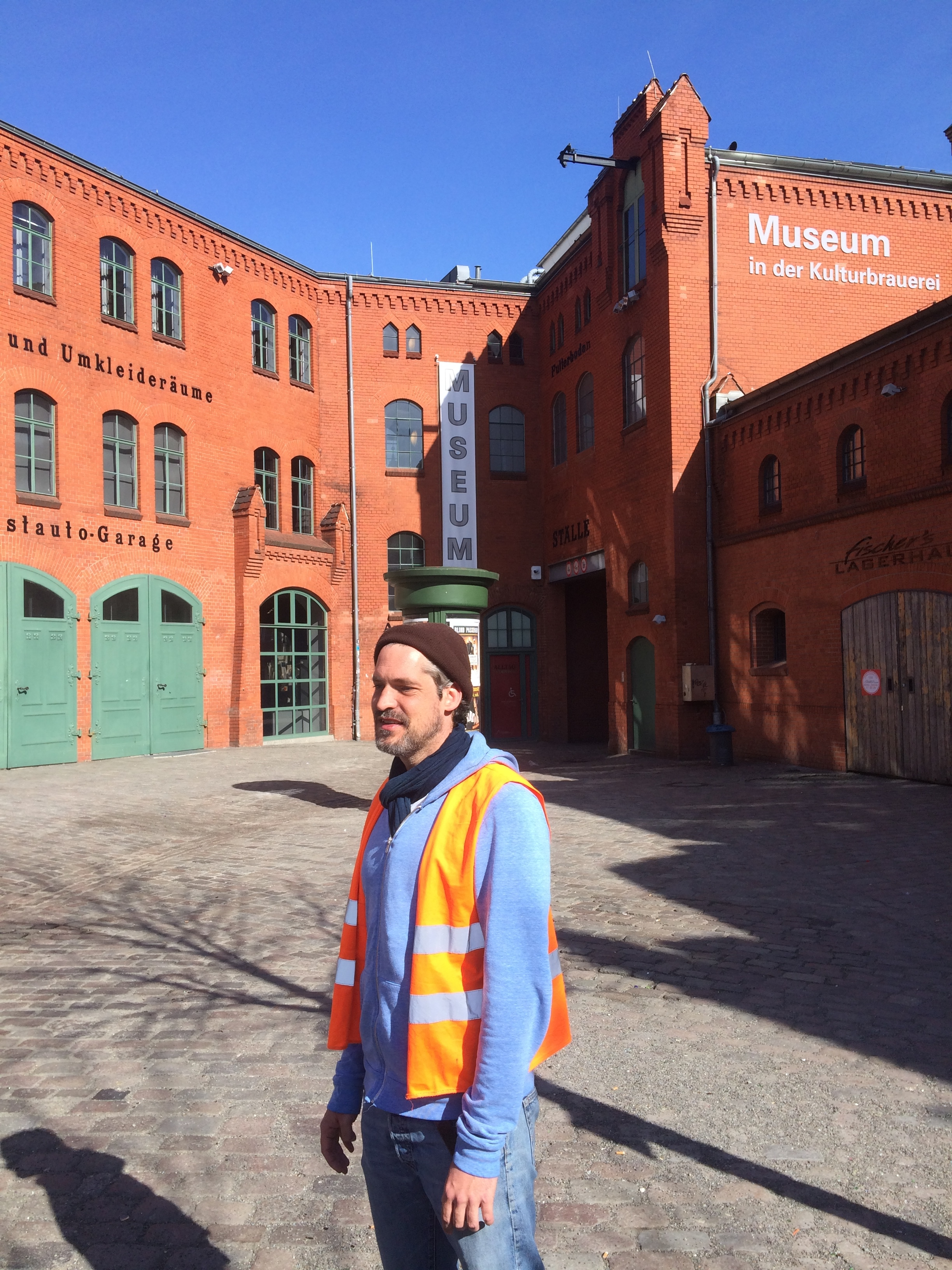 At the restored brewery complex where the tour departs from