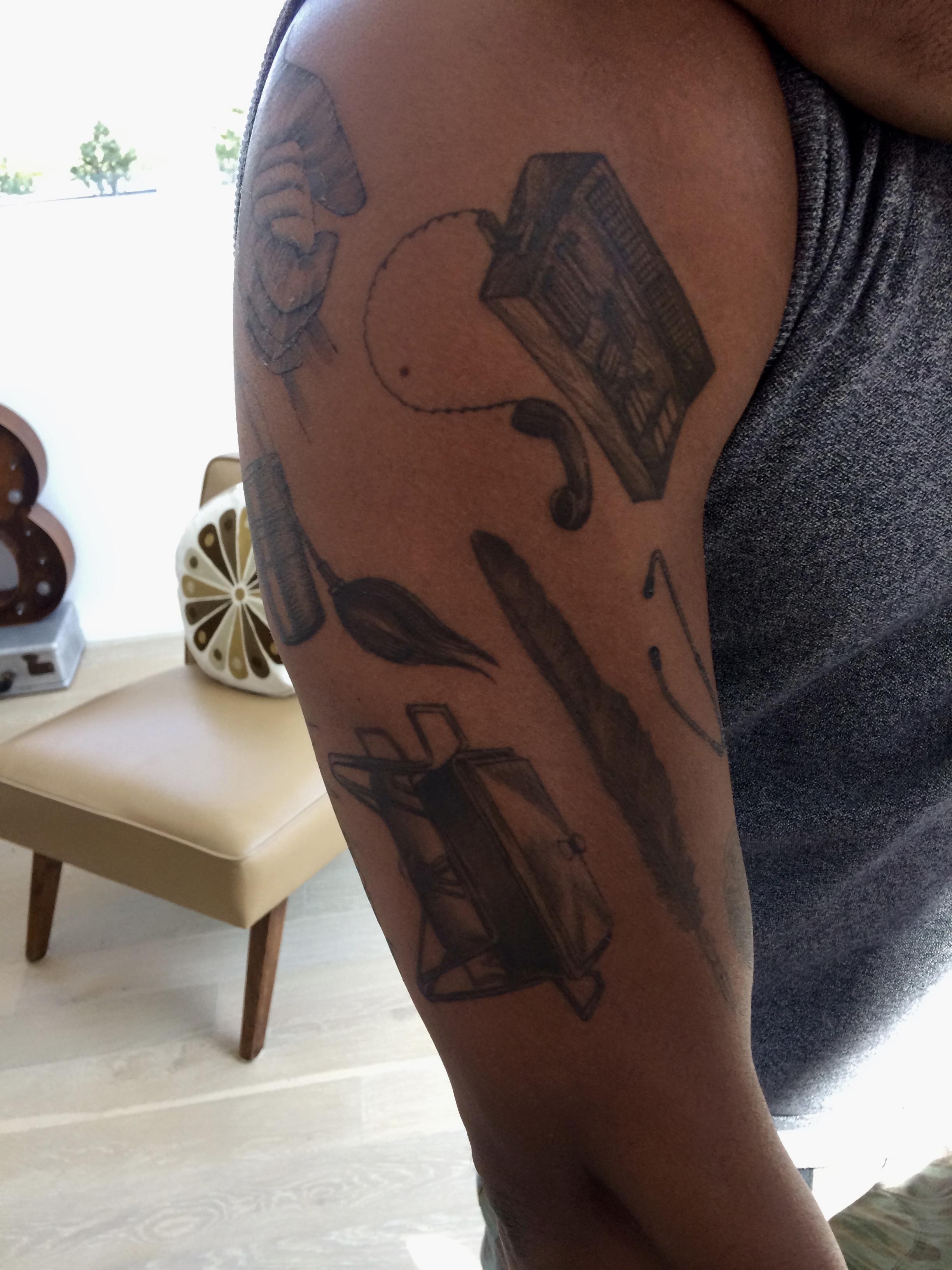 Chuck's new tattoos