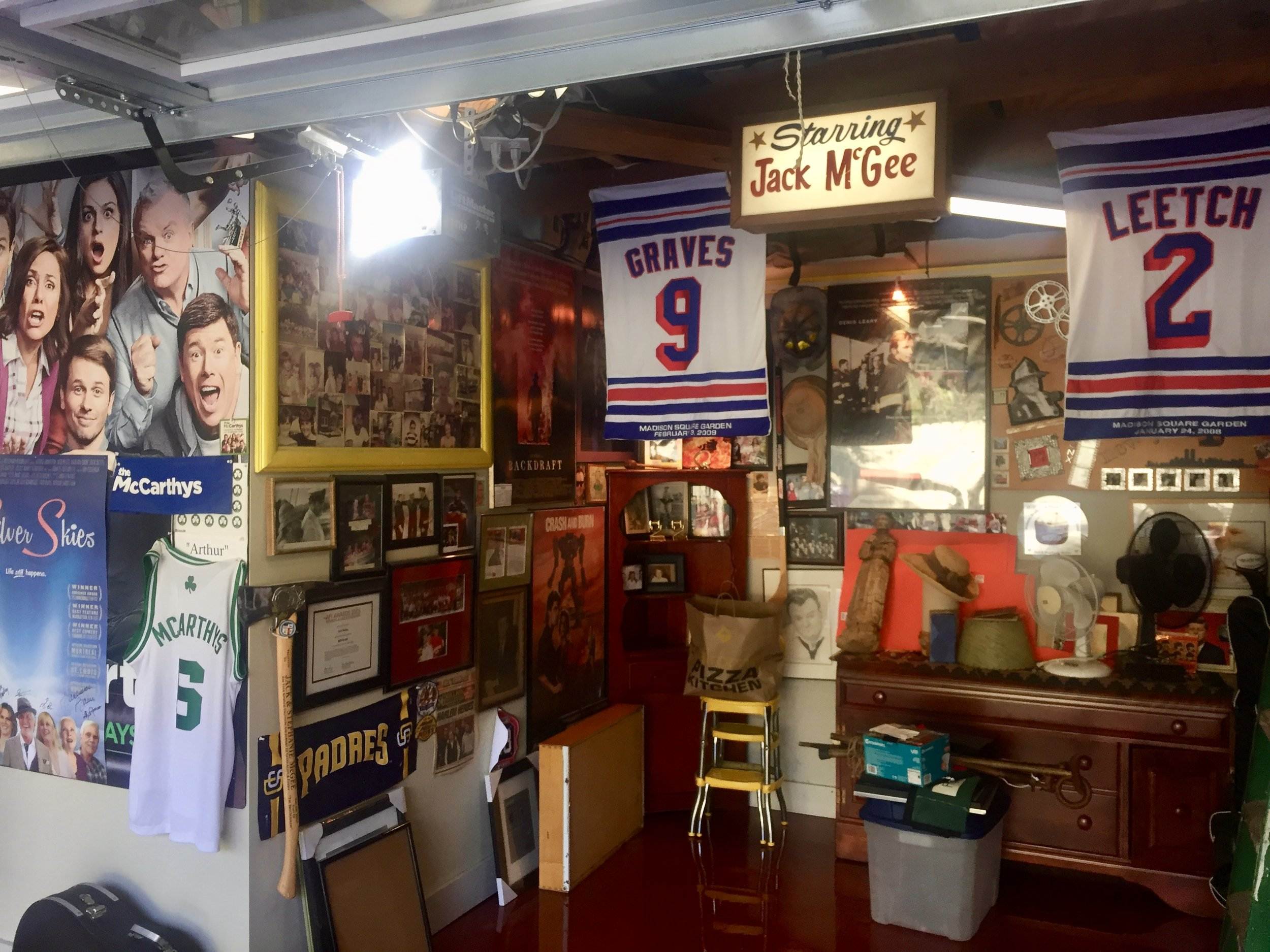 Jack's wondrous garage of memorabilia