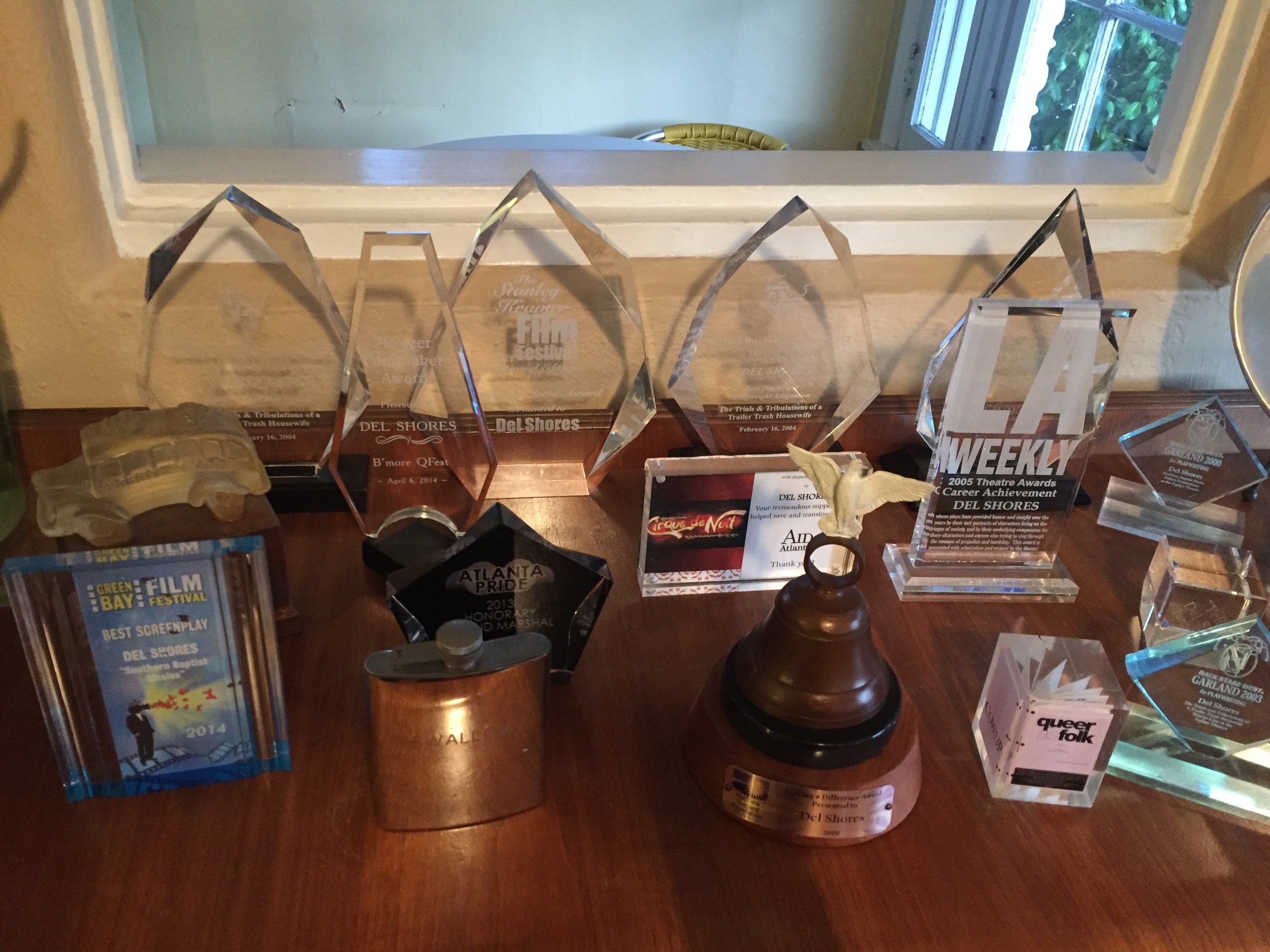 Some of Del's many awards