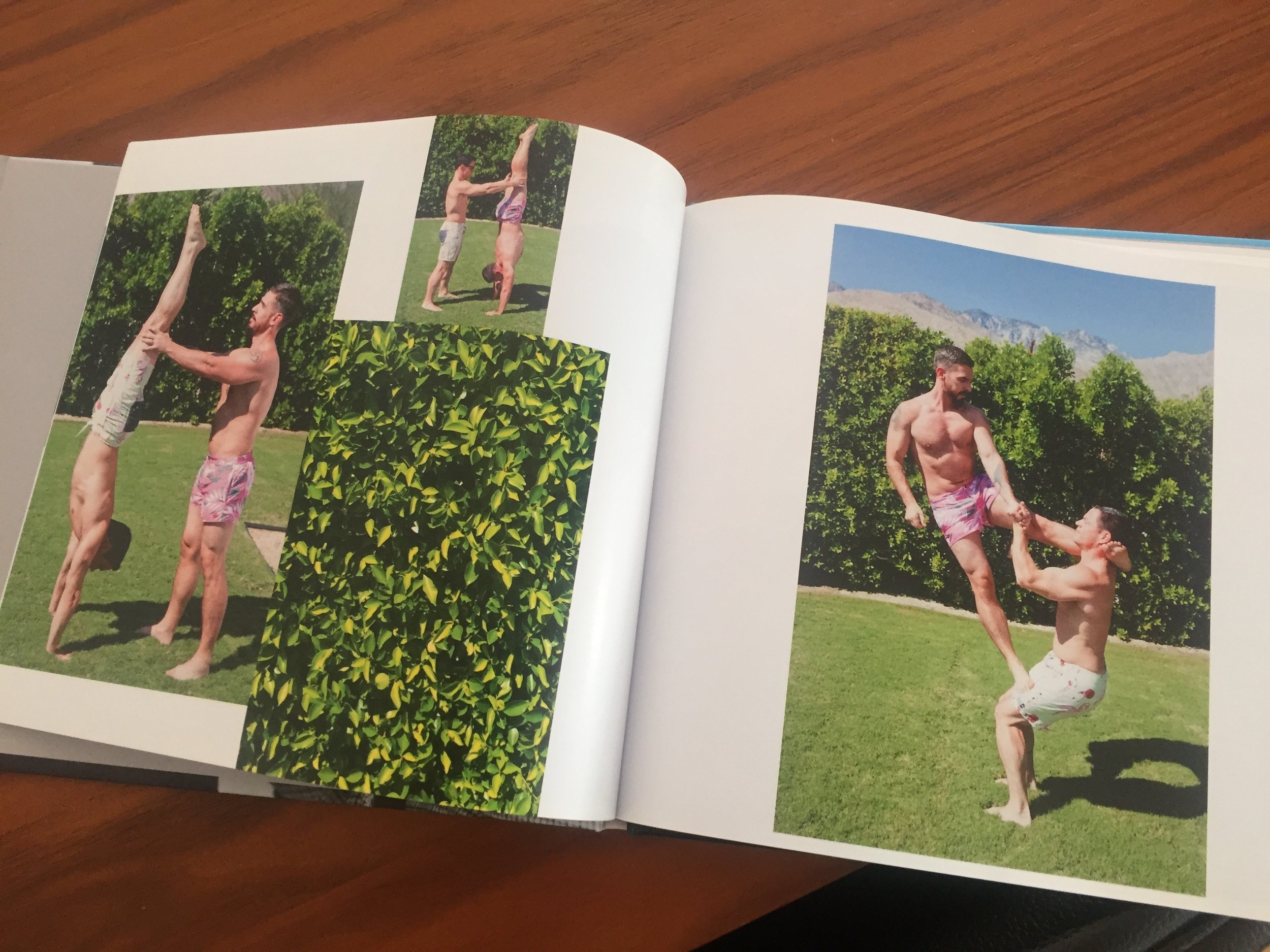 Inside the photo book.