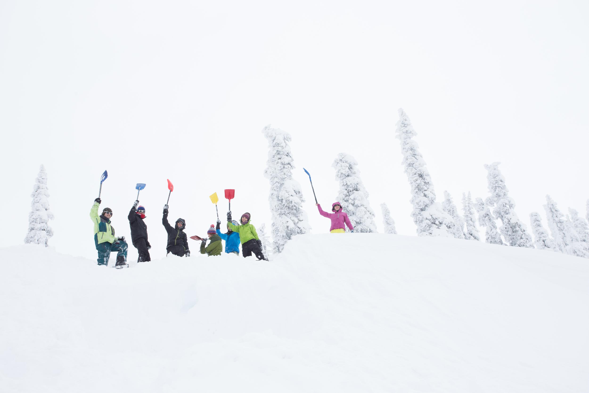 Digging Snow Caves on Mt. Rainier