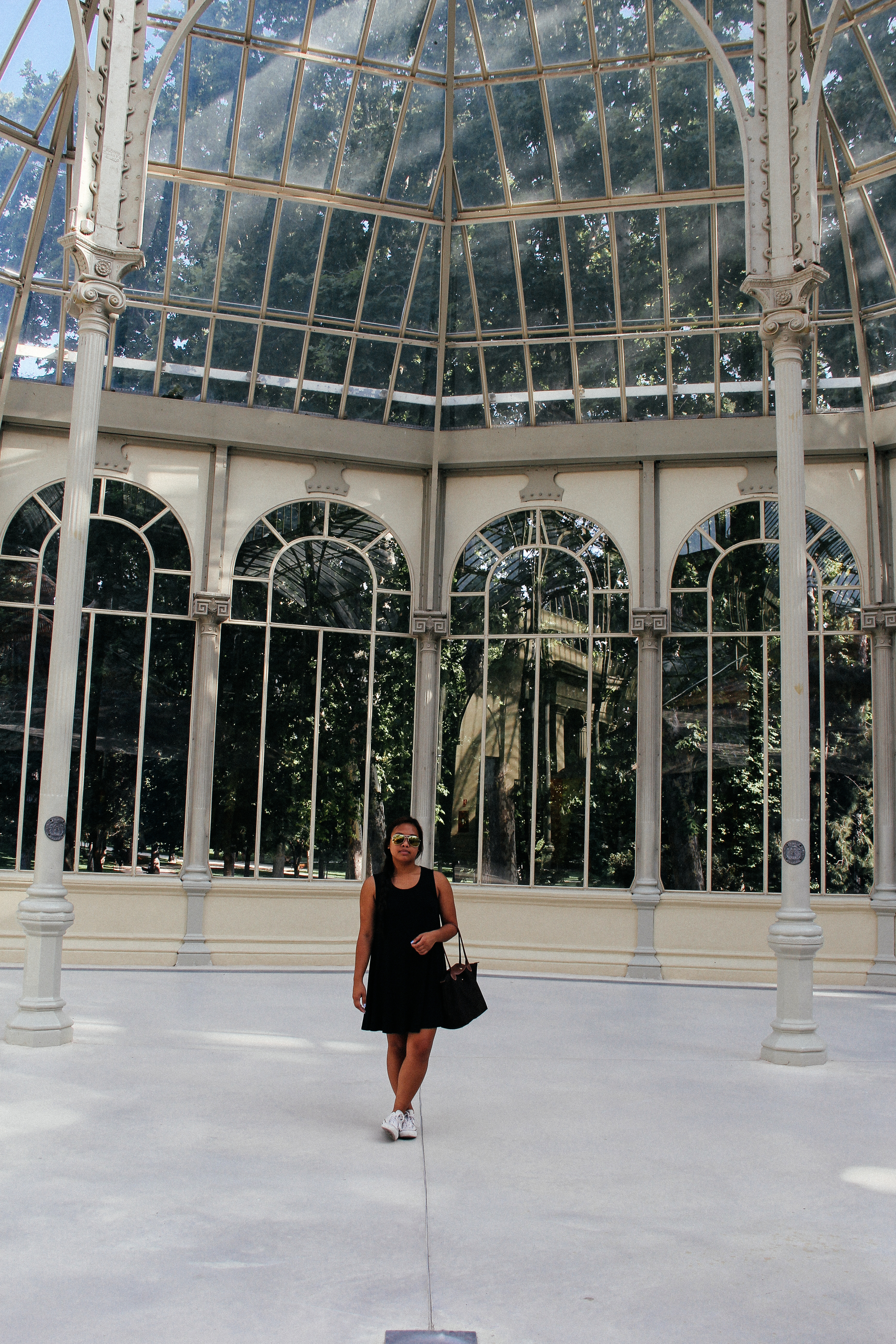 I've missed having my favorite person to photograph around! | Palacio de Cristal, Retiro Park