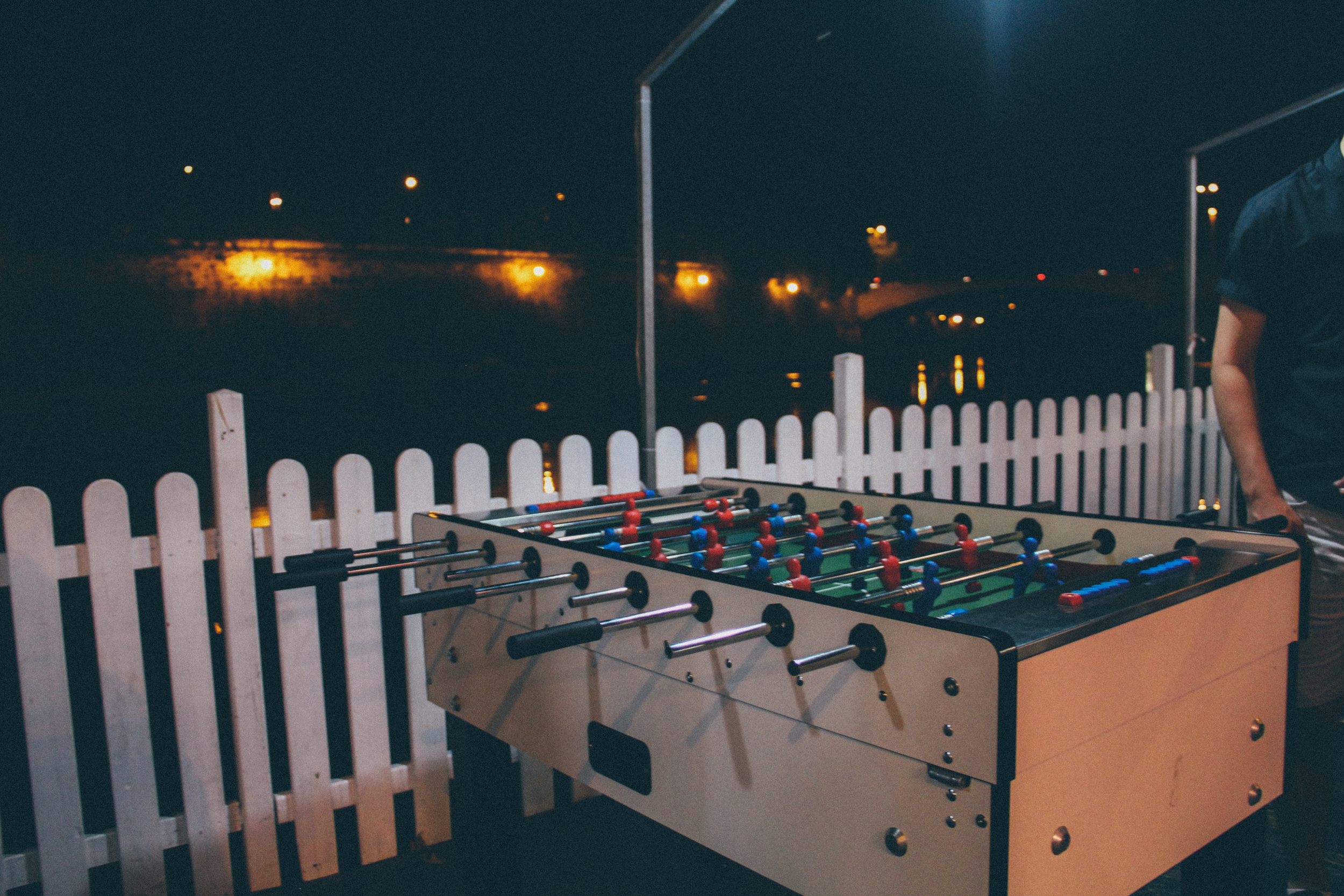 """If you walk along the Tibet River during the summer from 7 pm - 2 am, you'll find an amazing market called """"Lungo il Tevere"""" (Along The Tiber). It's a mile full of restaurants, events, shops + entertainment. Hello! They had foosball"""