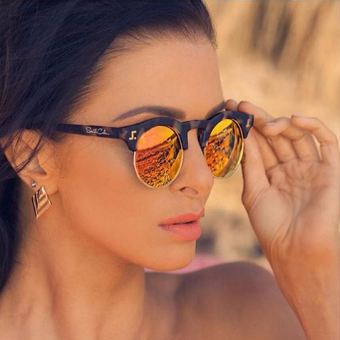 Reality TV star and model Emily wearing our Venice styles