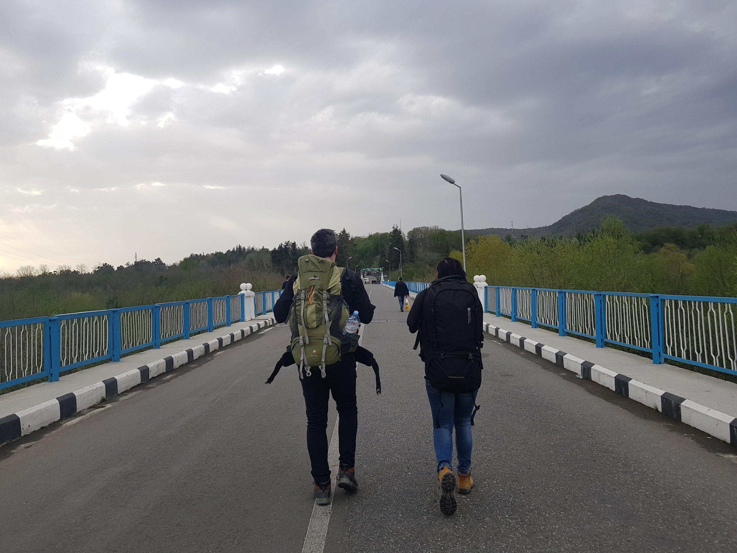 Crossing into Abhkazia.