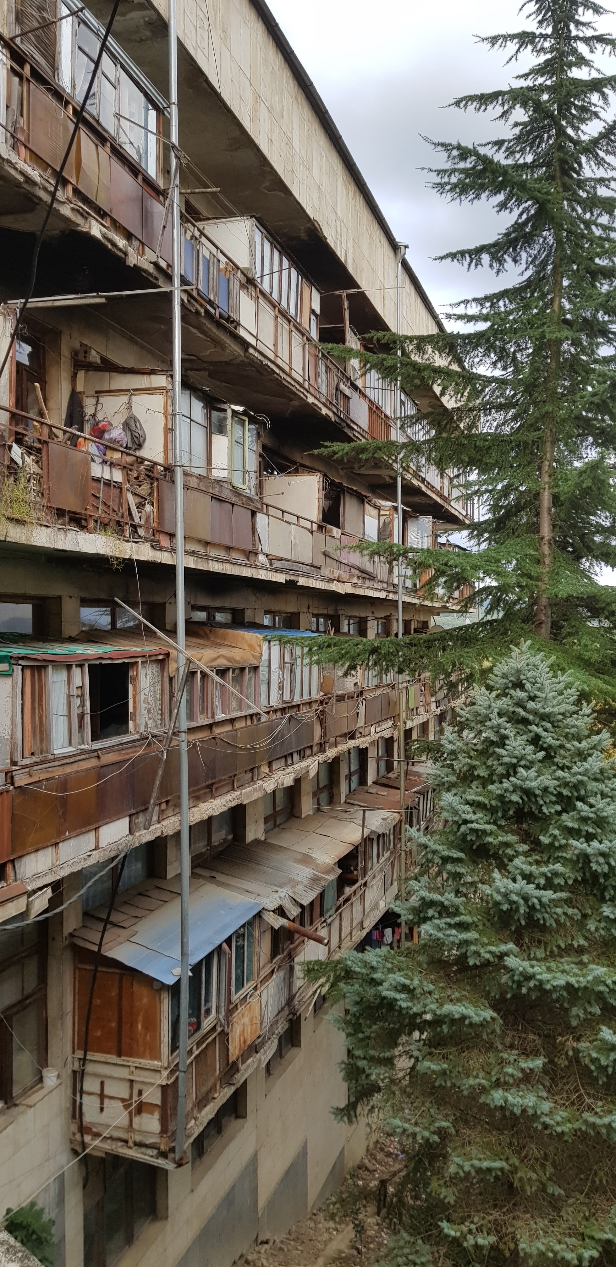 The now homes of people that escaped the Abkhazia war back in 1992.