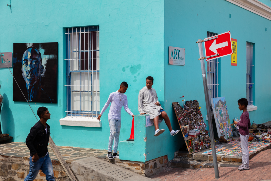 I loved the kids playing in this image taken outside the museum on Wale Street. I was trying to compose though without the gentleman on the left in the frame - but things change quickly in Bo-Kaap.