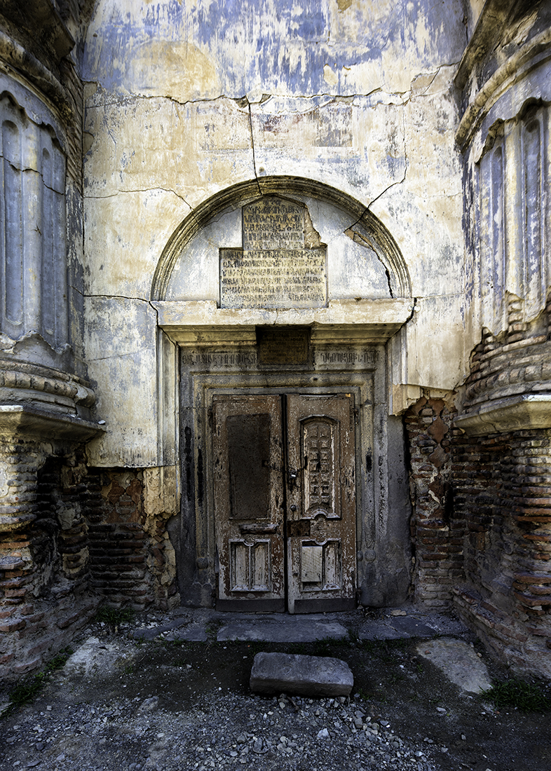 No Entry / The entrance to the derelict Armenian church, Surb Nshan.