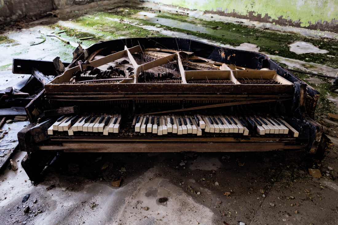 IMAGE 3 - This piano now unfortunately is wrecked, I shot it in the upstairs of the music school in 2015.