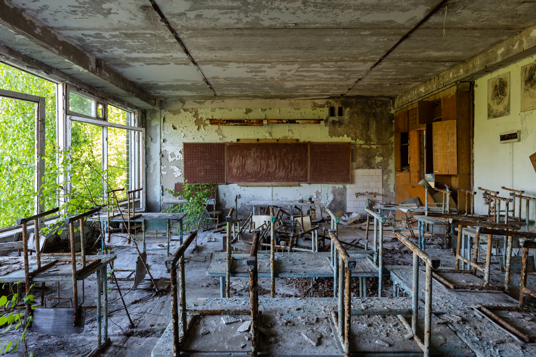 Classroom in a former school. Shot 2017.