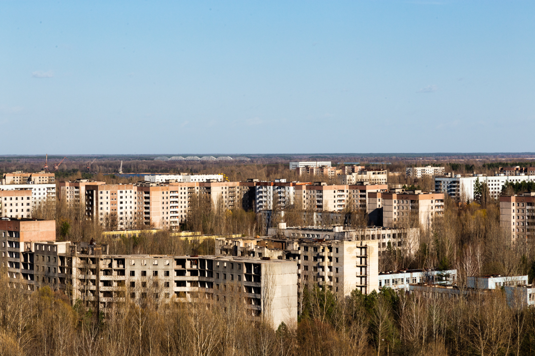 A view over Pripyat, Ukraine.