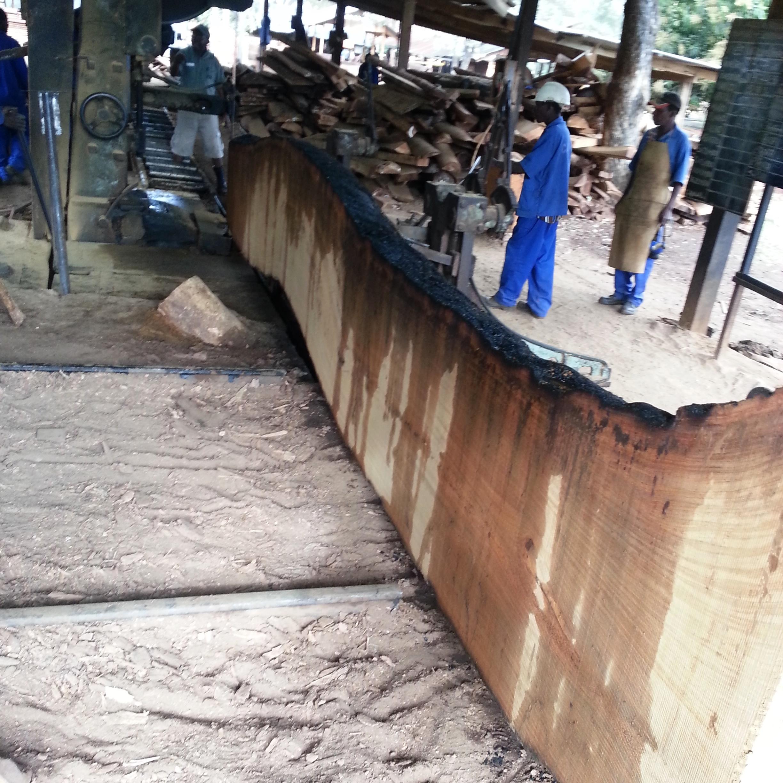 Serração de placas  - Sawing a slab