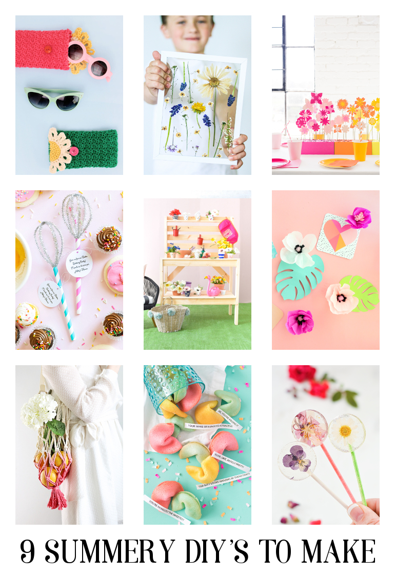 9 Summery Diy's To Make #diy #crafts #summer #summerdiys #weekenddiys