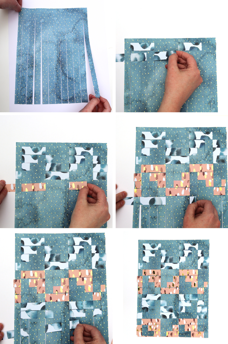 HOW TO MAKE DIY WOVEN PAPER WALL ART.