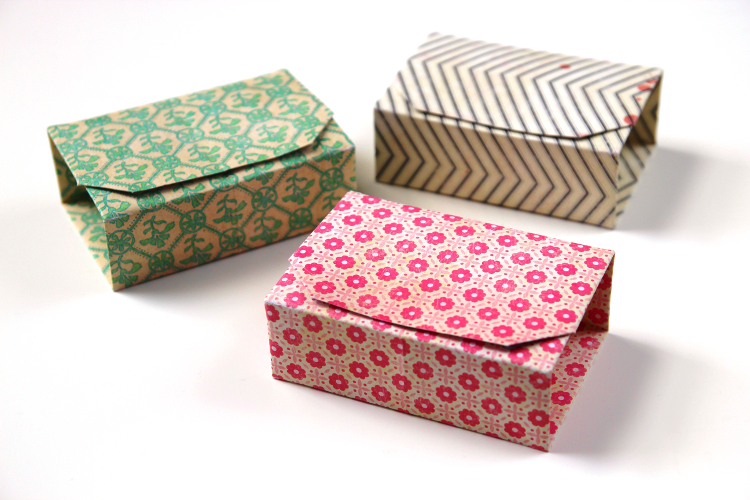 A simple origami box with lid – life hack | 500x750