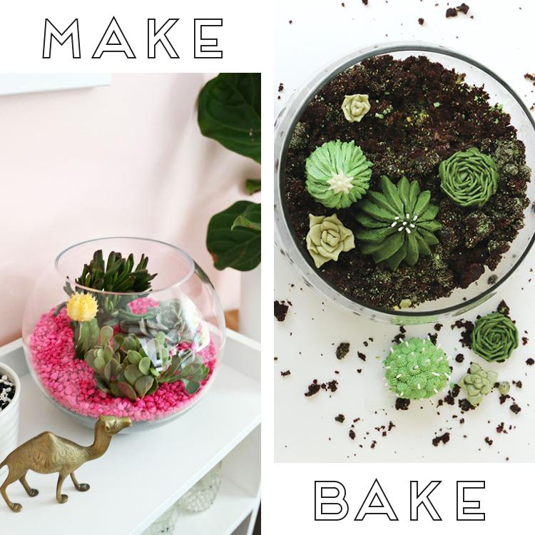 MAKE OR BAKE - SUCCULENT TERRARIUM CAKE #CAKE #TERRARIUM #SUCCULENT #CACTUS #DIY