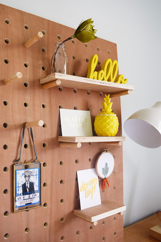 diy pegboard from Little House on the Corner