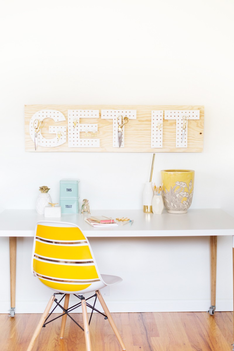 diy pegboard words from Lovely Indeed