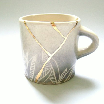 KIRA CALL CERAMICS - Who wouldn't want a beautiful kitsunga inspired coffee mug. I mean...