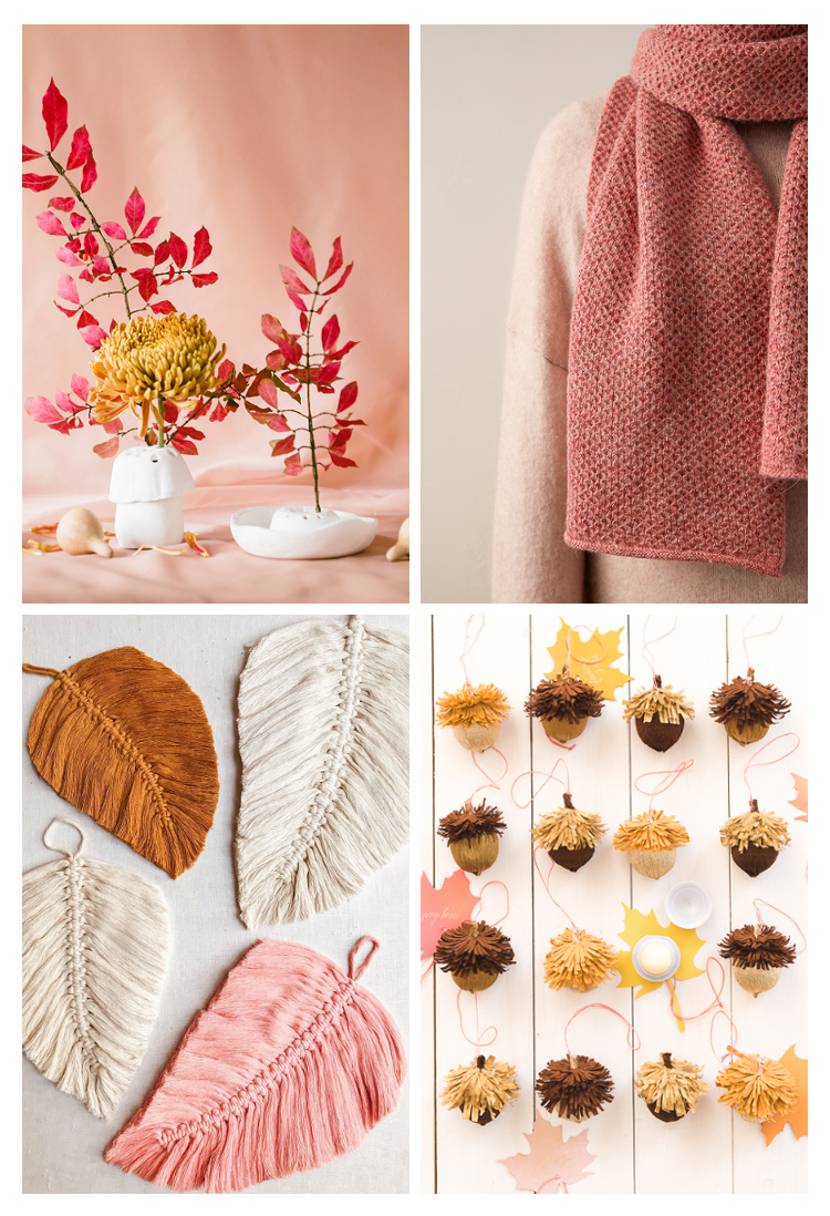 4 COSY AUTUMNAL CRAFTS TO MAKE THIS FALL - MACRAME, CLAY, PAPER AND WOOL #crafts #diy #macrame #clay #autumn #fallcrafts #claycrafts #gatheringbeauty