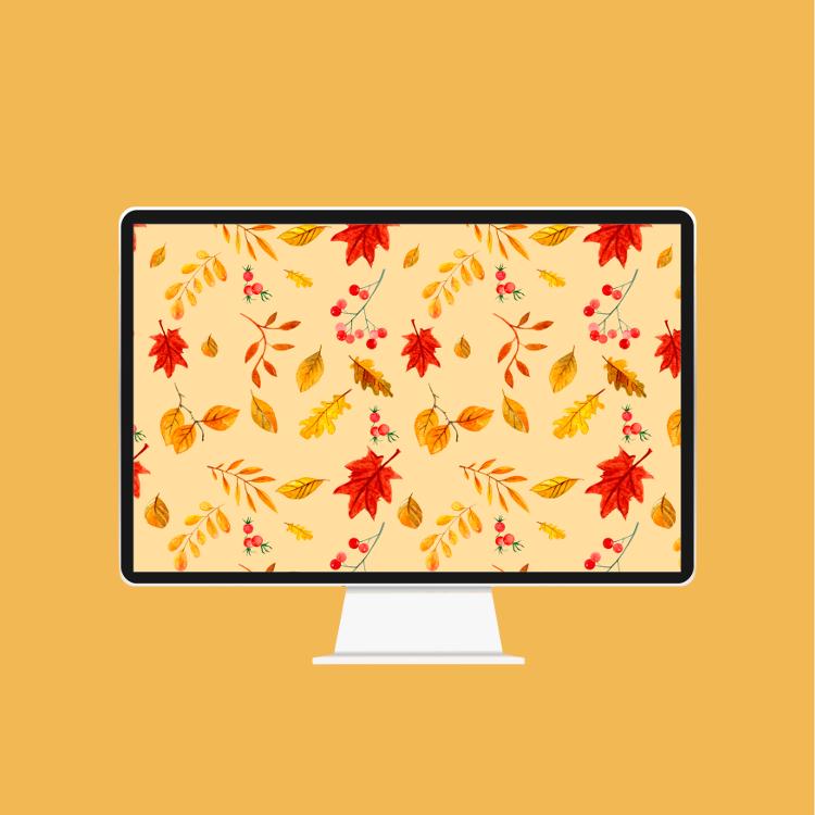 FREE AUTUMN LEAF WALLPAPER FOR YOUR DESKTOP OR PHONE #desktopdownload #freebie #wallpaper #gatheringbeauty