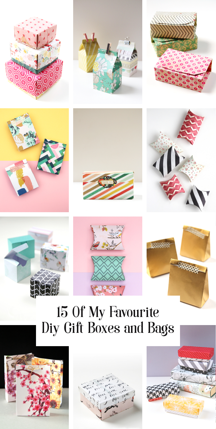 15 of my favourite diy gift boxes, bags and printables I've made and shared on the blog. A handmade box for every gift giving occasion. #diygiftbox #giftbox #party #christmas #christmascrafts #holidaycrafts #papercrafts #gatheringbeauty