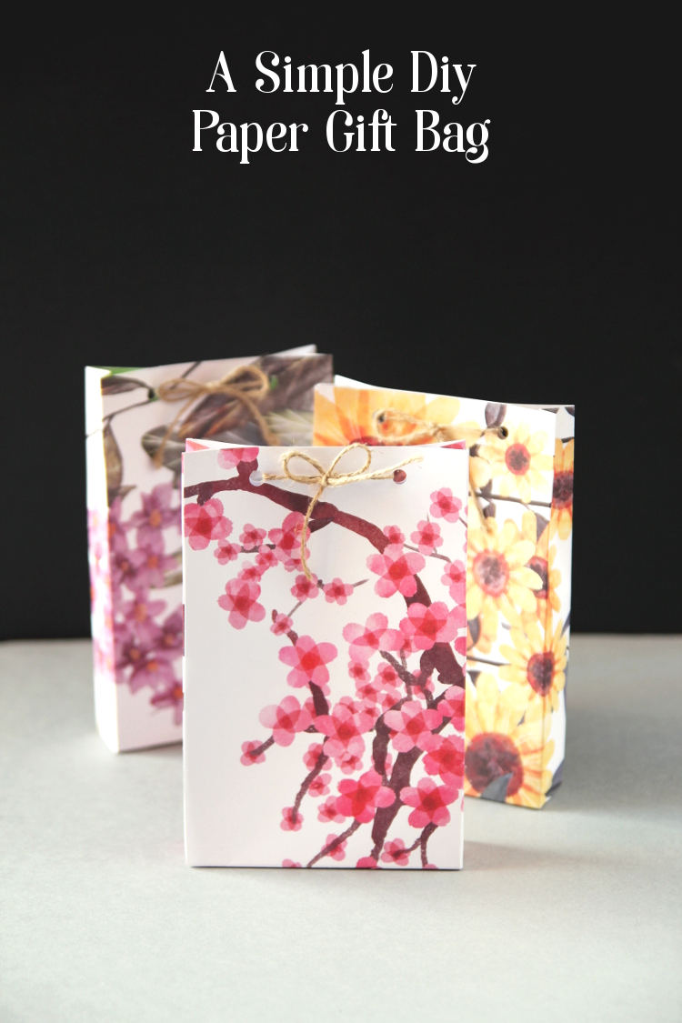 HOW TO MAKE A SIMPLE DIY PAPER GIFT BAG.