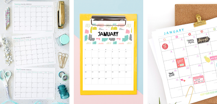 12 of the best free printable calendars for 2019 #freeprintable #printable #calendar #2019 #2019calendar #gatheringbeauty