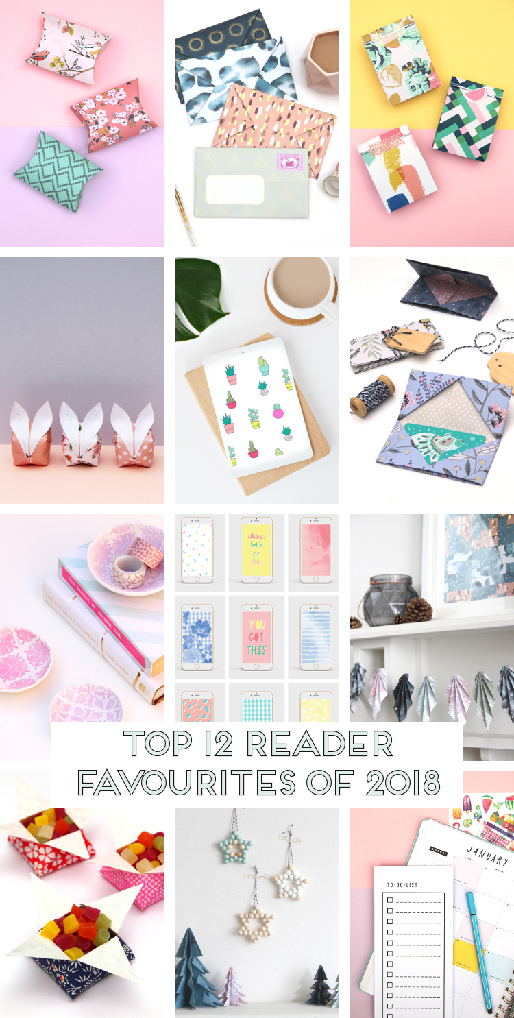The top reader favourites from Gathering Beauty 2018. Papercrafts, printables, origami and pretty wallpapers for your phone or laptop #crafts #diy #paper #papercrafts #origami #wallpaper #phonewallpapers #desktopdownloads #printables #freeprintables #gatheringbeauty