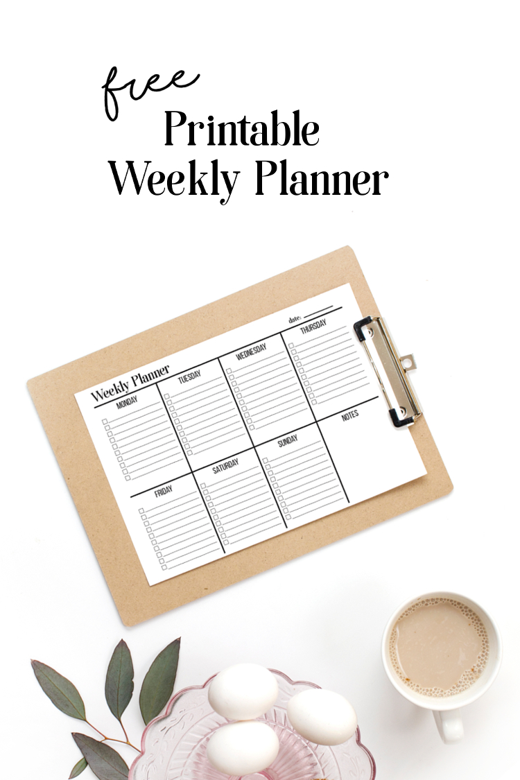 Get organised with this free printable weekly planner. Two versions to choose from. The bullet-pointed to-do list or the minimal blank slate. Simple black and white printable planners that are ink friendly and ready to help you get things done. #printable #freeprintable #planner #weeklyplanner #organize #organizational #agenda #plannerprintables #2019 #gatheringbeauty