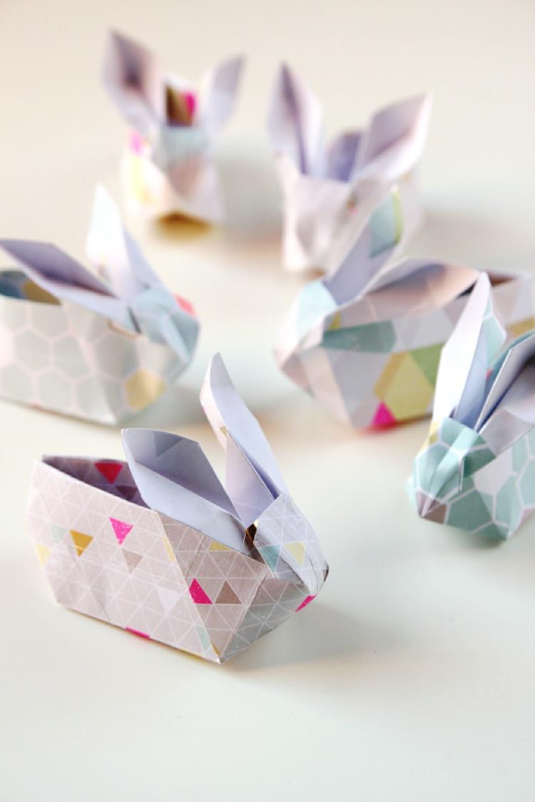 DIY ORIGAMI EASTER BUNNY BASKETS. | Origami crafts, Diy origami ... | 1125x750