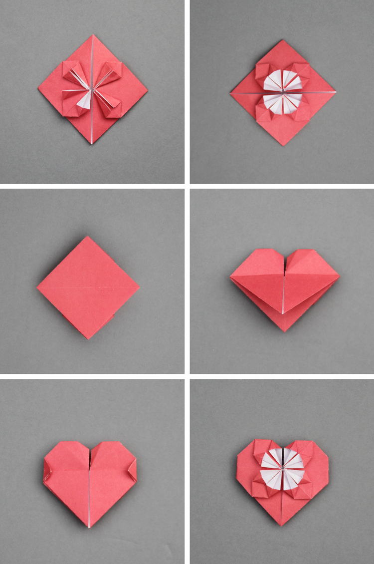 Origami Heart with Wings Step by Step . Awesome origami Heart with ... | 1130x750
