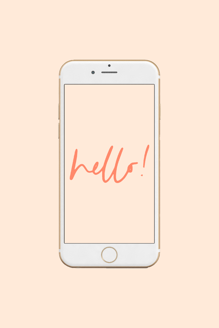 hello quote phone wallpaper