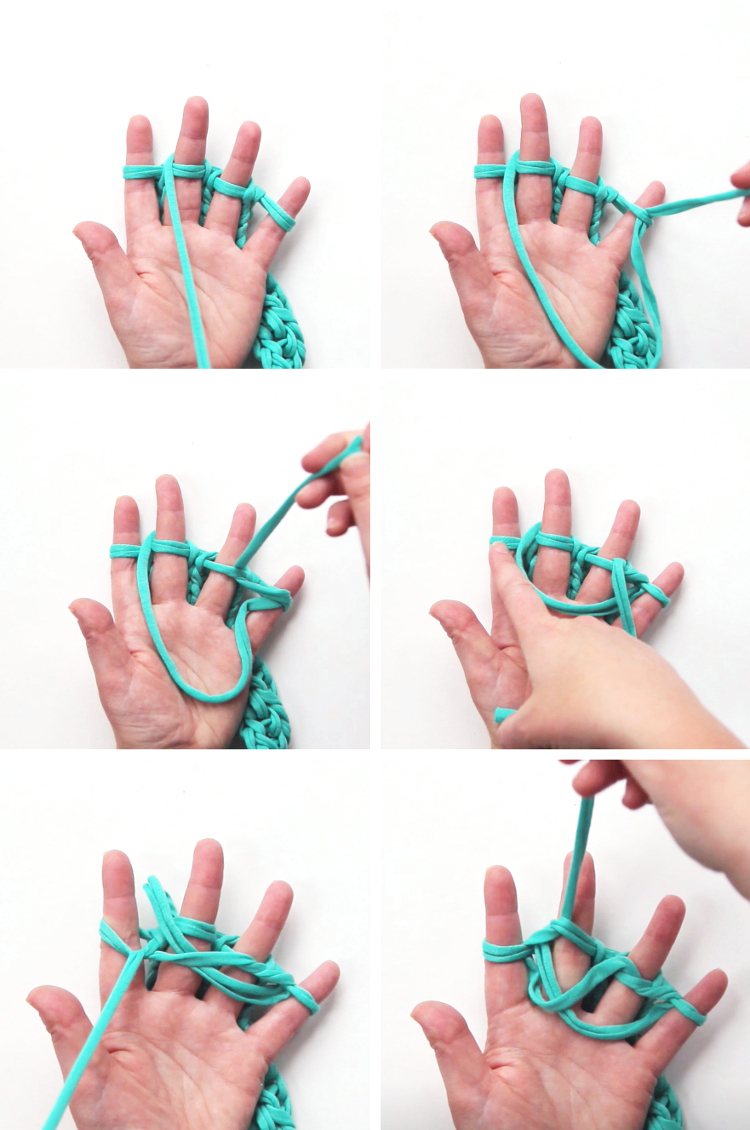 casting off your finger knitting