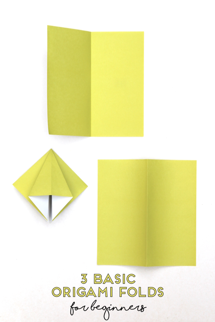 3 BASIC ORIGAMI FOLDS FOR BEGINNERS #origami #origamiinstructions