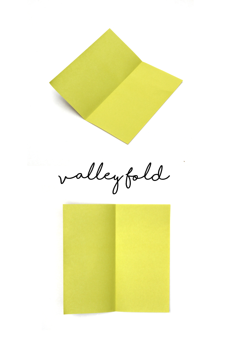 Learn origami basics - The Valley Fold #origami #origamiinstructions