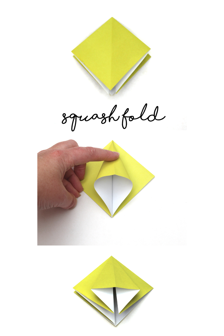 Origami Squash Fold Instructions - How to make an Origami Squash Fold | 1125x750