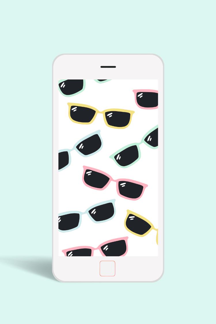 FREE SUMMER SUNGLASSES WALLPAPER FOR PHONE #WALLPAPER #DESKTOP #FREEBIE